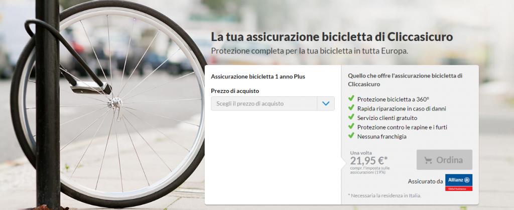 assicurazioni bici online