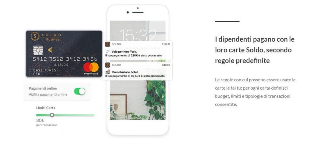 soldo business carta mastercard