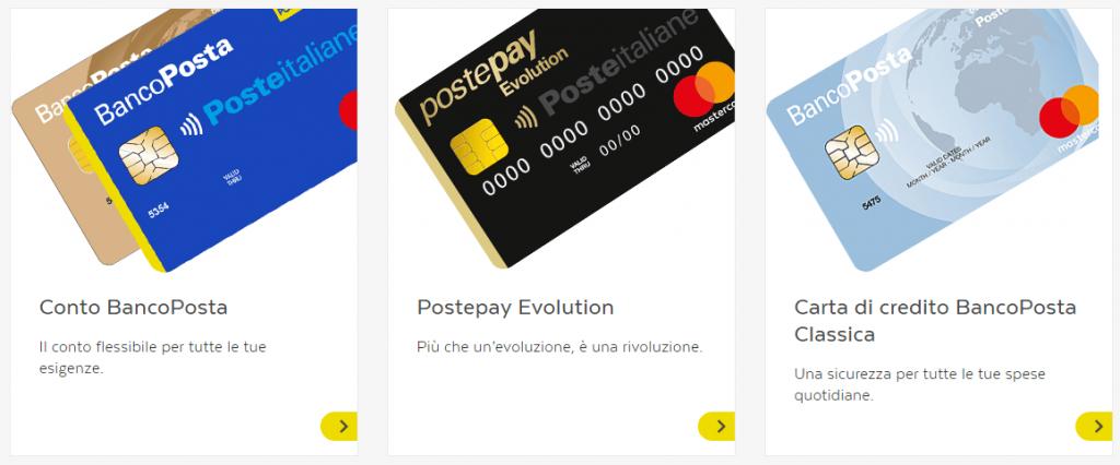 carta di credito bancoposta