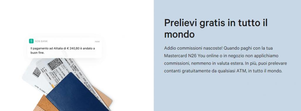 n26 you carta di credito